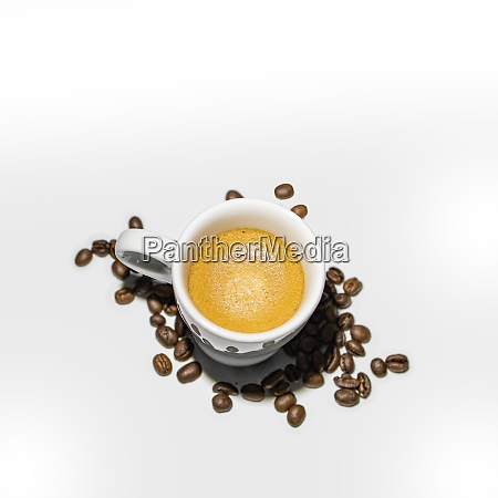 full coffee cup on white background