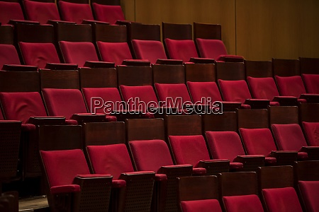 empty concert hall with chairs