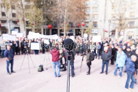 protest or public demonstration