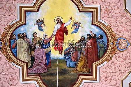 ascension of the lord fresco in