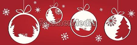 decorative white christmas baubles