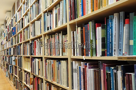 bookshelf in library