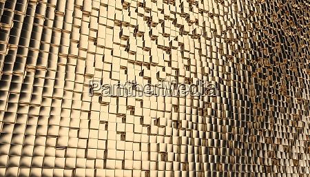 geometric gold cubic mosaic background