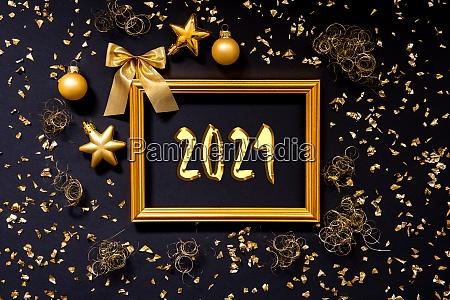 frame golden glitter christmas decoration ball