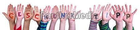 children hands building word geschenk tipp