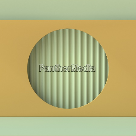 abstract mock up circle with stripes