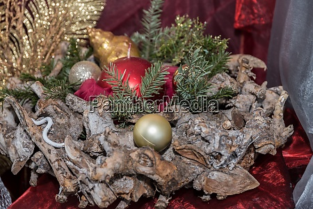 rustic christmas wreath as decoration