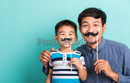 family funny happy hipster father and