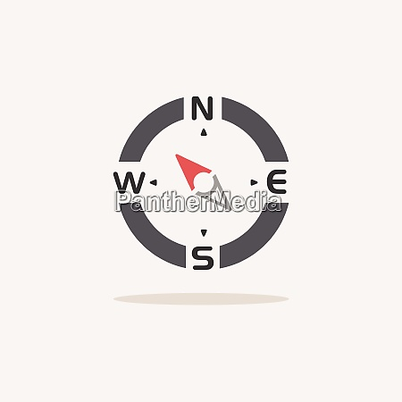 compass north west direction color icon