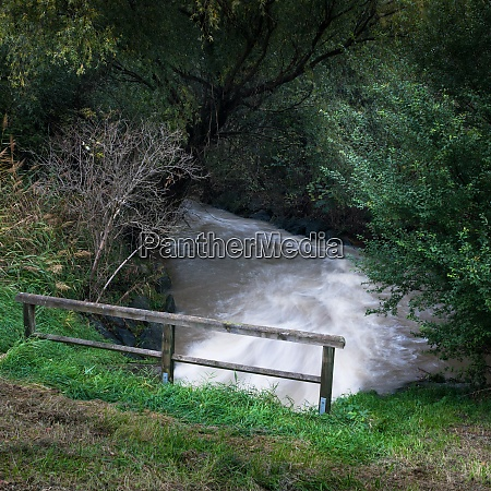 water stream caused bei a flood
