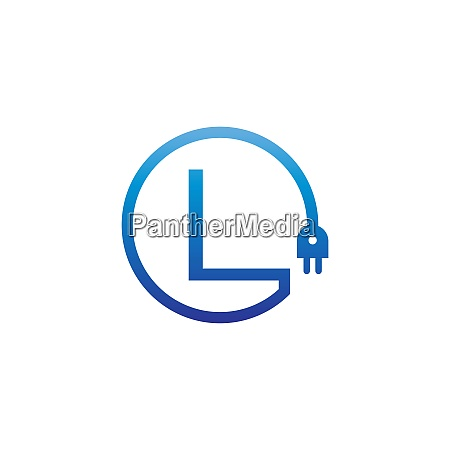 power cable forming letter l logo