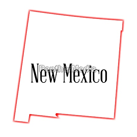 new mexico state outline map