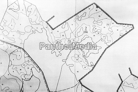topographic map of a small land