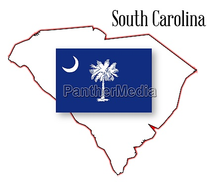 south carolina state map and flag