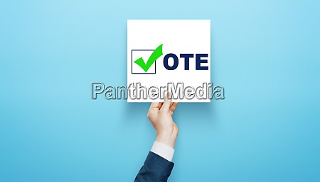 voting and election concept making the