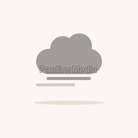 fog and cloud color icon with