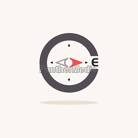 east, direction., compass., color, icon, with - 28999943