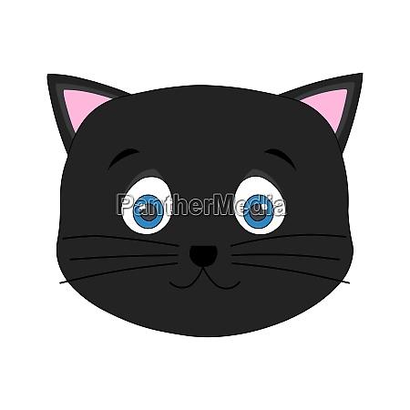 cute black cat face