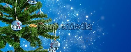 a christmas tree adorned with christmas