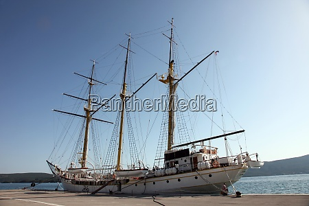 sailing vessel at the dock