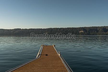 wooden jetty in sipplingen on lake