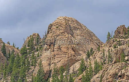 dramatic rocky peak in the mountains