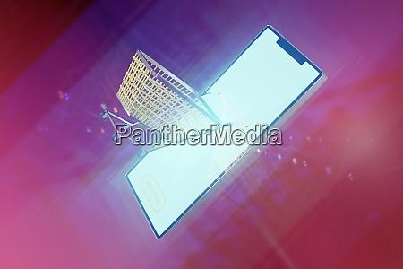 3d rendering smartphone for online