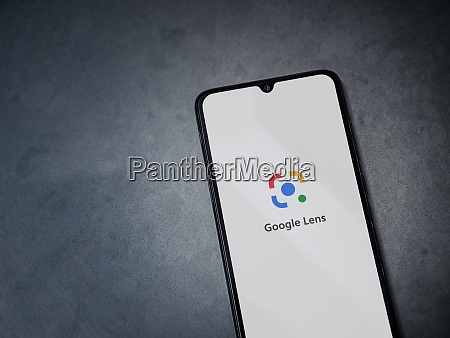 google lens app launch screen with
