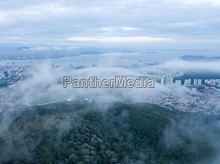 aerial view penang turf club over
