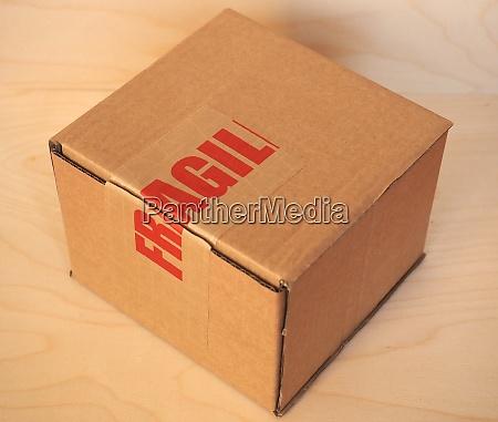 fragile cardboard box