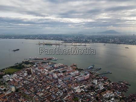 aerial view unesco world heritage georgetown