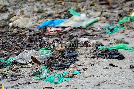 plastic at coastal