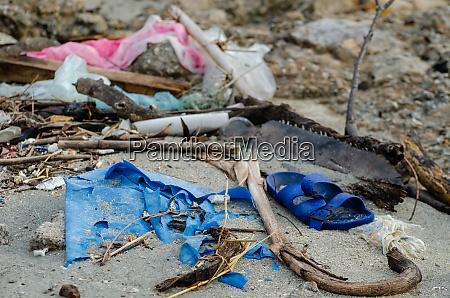 rubbish plastic sandals rubbish