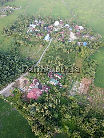 aerial view kampung house