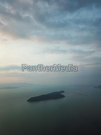 aerial view pulau aman island