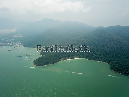 drone view penang national park