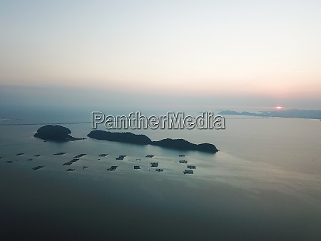 aerial view pulau aman pulau betong