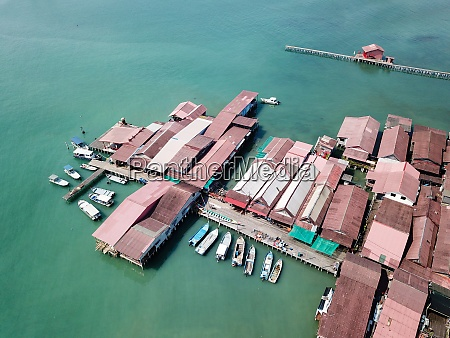 top view of clan jetty traditional