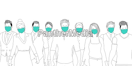 health workers wearing surgical mask