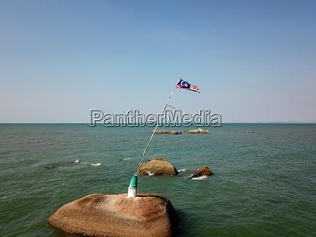 aerial, view, malaysia, flag, at, sea - 29006282