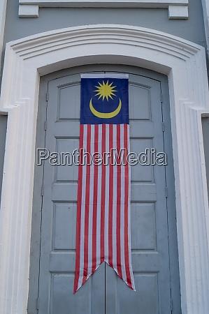 malaysia, flag, banner, at, door - 29006101
