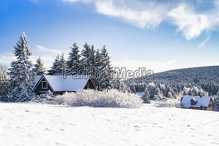 orlicke mountains in winter czech republic