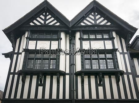 timber framed house facade ledbury herefordshire