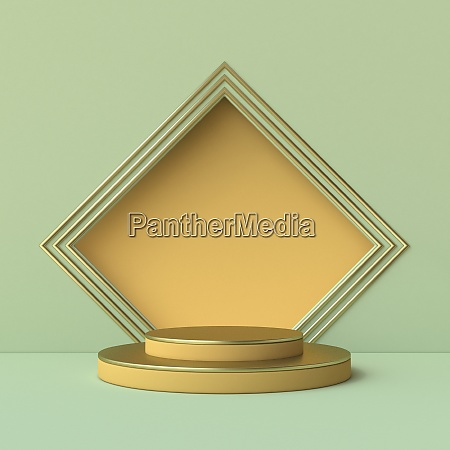 abstract mock up square frame 3d