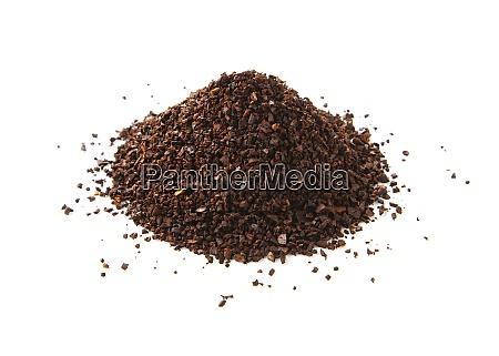 heap of fine grinding coffee powder