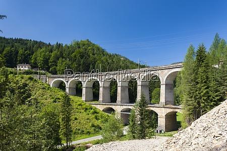 rail viaduct semmering bahn unesco world