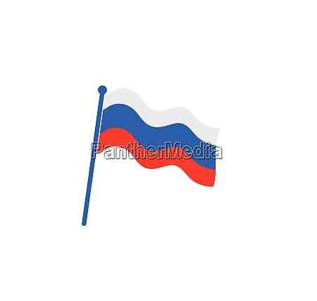 russian flag icon logo vector