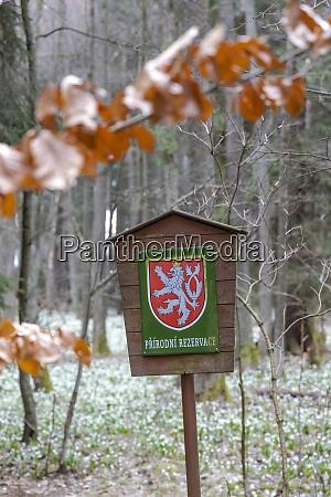 czech republic board natur reserve