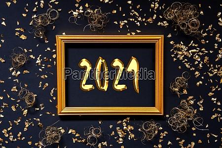 frame golden glitter and sparkle christmas