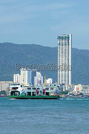 ferry move at penang sea